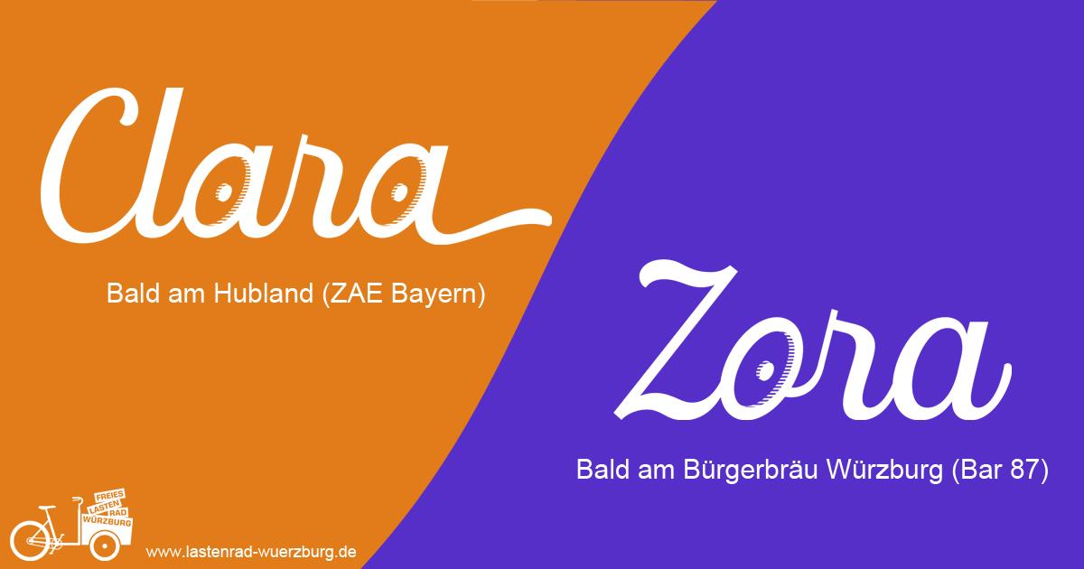 Clara und Zora bald in den kostenlosen Lastenradverleih